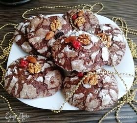 Шоколадное печенье с цукатами