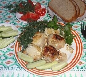 Запеканка с фрикадельками и цветной капустой