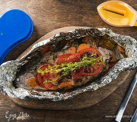 Форель под сливочно-овощным соусом