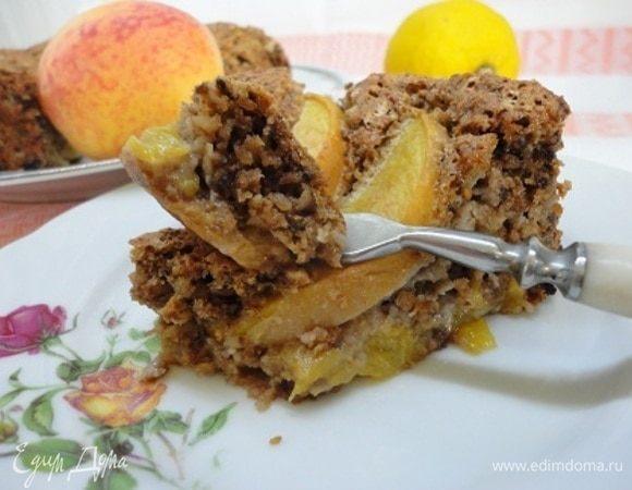 Овсяной пирог с персиками