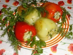 Перец с цветной капустой и сыром