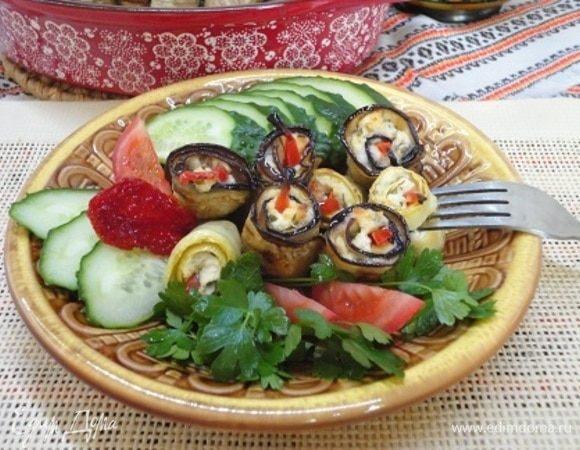 Овощные рулетики с рикотой