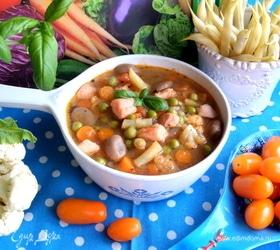 Суп с сезонными бобовыми