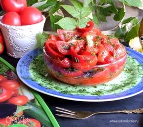 Быстрые маринованные томаты и перцы