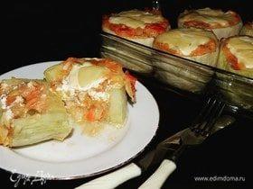 Овощные лукошки из кабачков