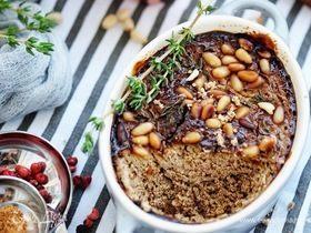 Печеночный паштет с творожным сыром и кедровыми орешками