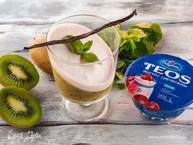 Йогуртовый десерт с киви