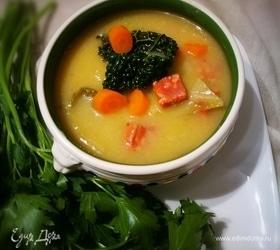 Португальский картофельный суп-пюре с савойской капустой