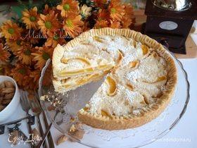 Персиковый тарт с миндальным кремом