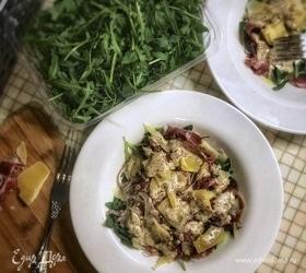 Салат из прошутто, руколы и пармезана