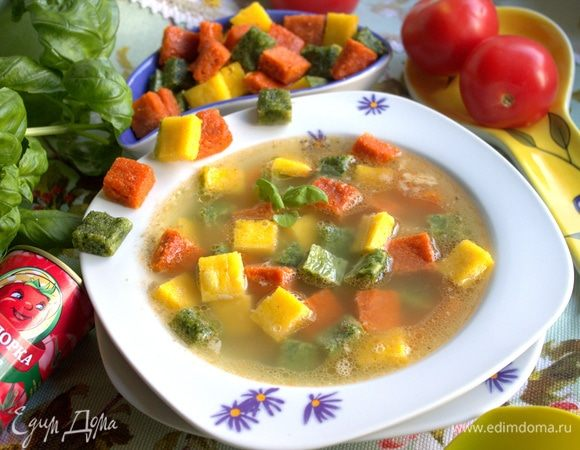 Итальянский суп «Триколор»