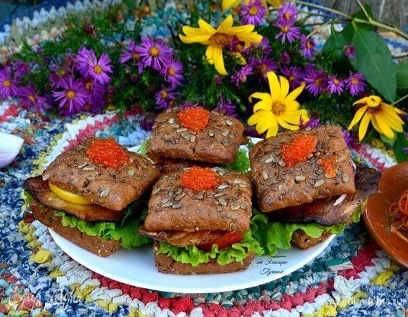 Бутерброд по-деревенски из тилапии
