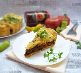 Пирог с мясным рагу мурседду