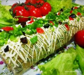 Рулет из цветной капусты с овощами