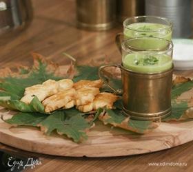 Овощной суп-пюре с сырным печеньем