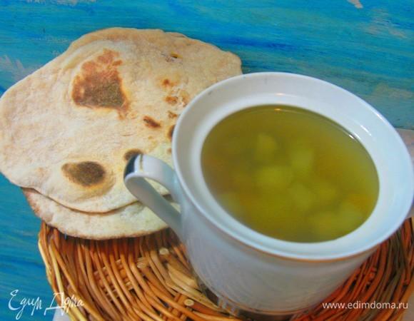 Овощная солянка с маринованной тыквой