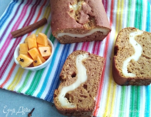 Тыквенный кекс со сливочной начинкой