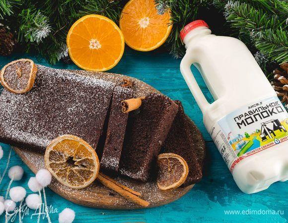 Шоколадный кекс с апельсинами