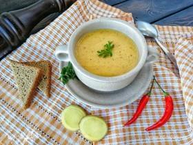 Тыквенно-имбирный суп-пюре с согревающей ноткой