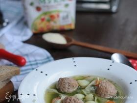 Суп с «мраморными» фарфалле