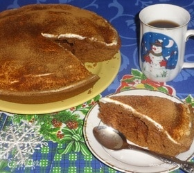 Пирог «Горчичный с какао»