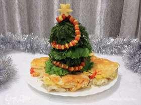 Филе судака с картофелем и тыквой, запеченные в духовке