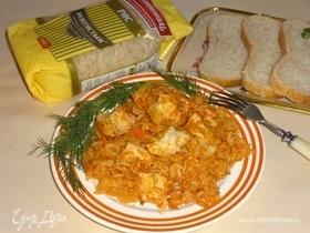 Рис с курицей и капустой по-гречески