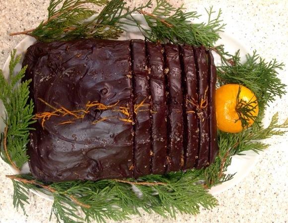 Шоколадный кекс с мандарином