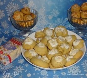Печенье «Розы в снегу» с кунжутом