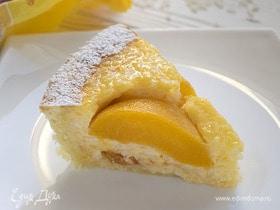 Бельгийский рисовый пирог с персиками
