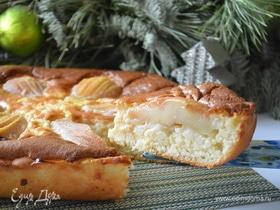 Датский грушевый пирог с пудингом