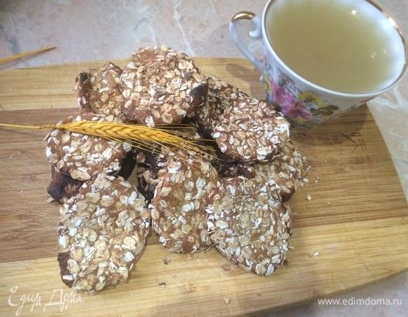 Овсяное печенье с медом без сахара