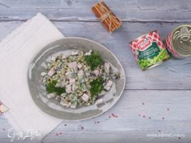 Салат с ветчиной и зеленым горошком