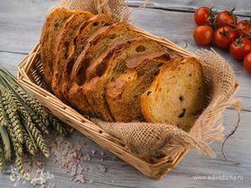 Домашний хлеб с оливками и вялеными помидорами