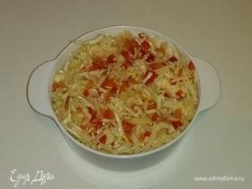 Салат из белокочанной капусты и овощей