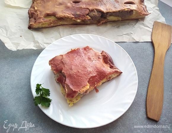 Домашний мясной пирог