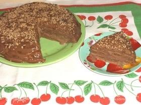 Блинный торт «Шоколадное удовольствие»