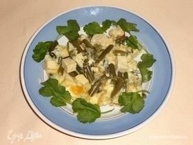 Омлет с тофу и стручковой фасолью