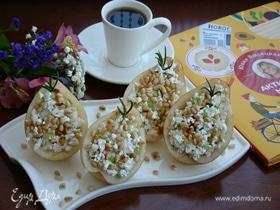 Груши с творогом, сельдереем и кедровыми орешками