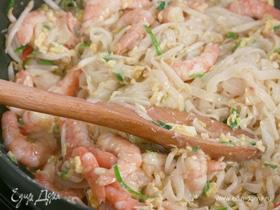 Лапша по-тайски с креветками