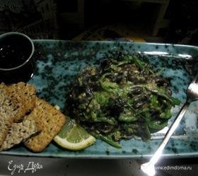 Салат из чуки, грибов муер и морской капусты