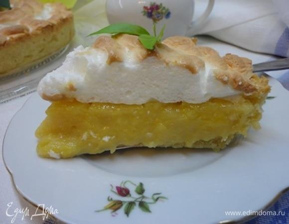Лимонный торт с безе