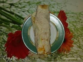 Овощная шаурма с плавленым сыром