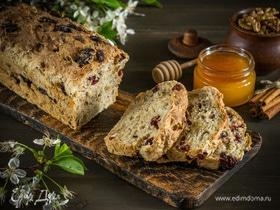 Овсяный хлеб с клюквой и грецкими орехами