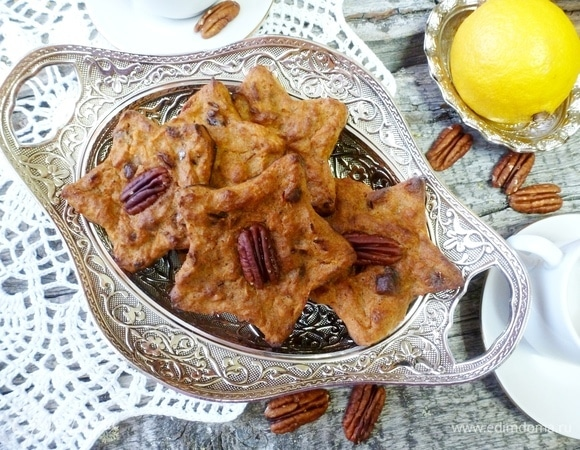Морковное печенье с орехом пекан