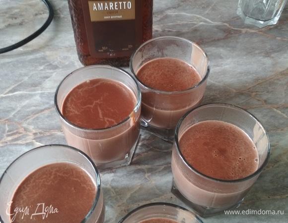 Шоколадный пудинг с амаретто