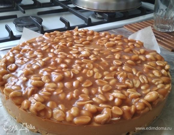Карамельный торт без выпечки