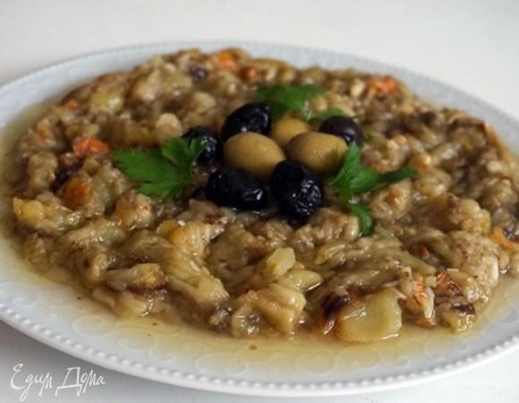 Салат из запеченных баклажанов и болгарского перца по-турецки