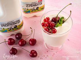 Сливочный пудинг с ягодами