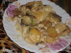 Запеканка из жареного картофеля
